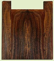"""WAUS42264 - Claro Walnut, Baritone or Tenor Ukulele Back & Side Set, Salvaged from Commercial Grove, Excellent Color& Astounding Figure, Eco-FriendlyUkulele Wood, 2 panels each 0.18"""" x 5.75"""" X 18"""", S2S, and 2 panels each 0.18"""" x 3.375"""" X 21.125"""", S2S"""