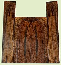 """WAUS42268 - Claro Walnut, Baritone or Tenor Ukulele Back & Side Set, Salvaged from Commercial Grove, Excellent Color& Astounding Figure, Eco-FriendlyUkulele Wood, 2 panels each 0.17"""" x 5.25 to 5.875"""" X 16"""", S2S, and 2 panels each 0.18"""" x 4"""" X 21.625"""", S"""
