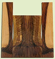 """WAUS42281 - Claro Walnut, Tenor Ukulele Back & Side Set, Salvaged from Commercial Grove, Excellent Color& Astounding Figure, Eco-FriendlyUkulele Wood, Note:  Bark inclusion, 2 panels each 0.16"""" x 4.875"""" X 14.125"""", S2S, and 2 panels each 0.16"""" x 3.75"""" X"""