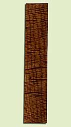 """MAUFB44163 - Big Leaf Maple, Ukulele Fingerboard, Med. to Fine Grain, Excellent Color& Curl, Stabilized with colorless, nontoxic, resin, Great Ukulele Wood, 1 piece each 0.24"""" x 2.625"""" X 14"""", S2S"""